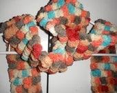 Four Seasons PomPom Crochet Scarf