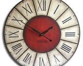 Large Wall Clock 30in Handpainted Antique Style Big DONNYBROOK FOX Family Heirloom