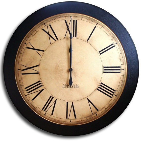 Large Wall Clock 24in Antique Style Big Round Clocks Whiting