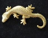 Vintage Gold Tone Dancraft Lizard Pin/Brooch
