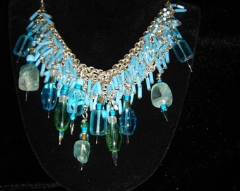 Aqua Water Fall Necklace