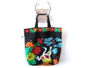 Japanese Garden Beaded Tote