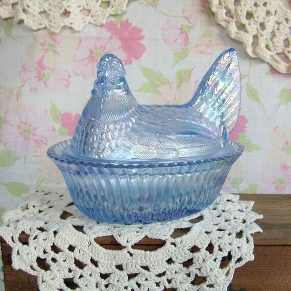 Summit Art Glass Co Hen On Nest Dish 5 By Willowmoonvintage