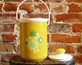 Vintage Mod Ice Bucket- Sunshine Yellow