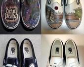 HANDPAINTED Custom vans shoes Design your own pair