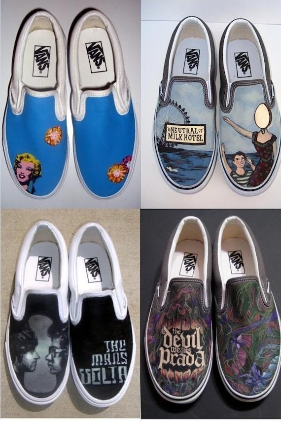 HANDPAINTED Custom vans shoes Design your own pair