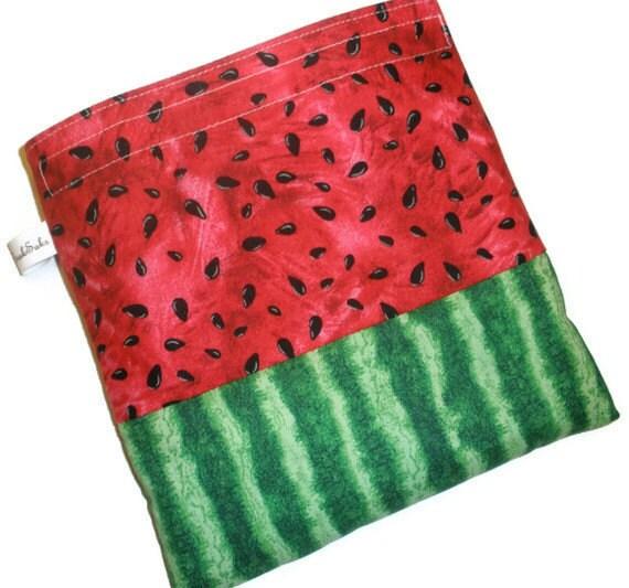 Snaksaks Reusable Sandwich Bag - Watermelon Slice