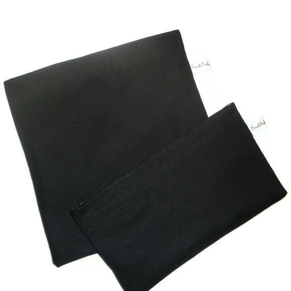 Solid Black Sandwich and Snack Bag