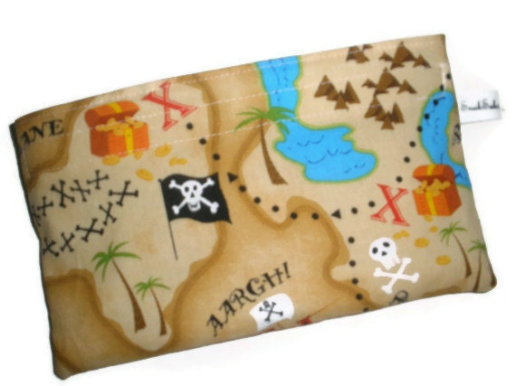 Reusable Snack Bag - Pirate Map
