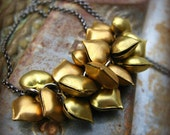 A Heart Overfilled - vintage brass hearts and gunmetal necklace