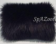 Black fur muff faux fur bridal hand muff wedding muff hand warmer feathery faux fur