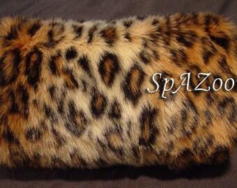 Leopard faux fur hand muff bridal accessory wedding hand warmer