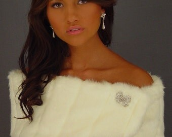 Faux Fur Stole Shrug In Mink Style: FW100 (AVAILABLE IN 5 COLORS)