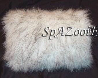 Husky faux fur hand muff bridal accessory wedding black and white hand warmer