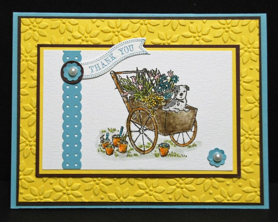 Summer Afternoon THANK YOU Stampin Up handmade card