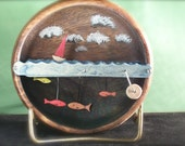 boat and fish in a bowl automata