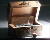 pirate ship in treasure chest automaton
