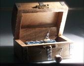 automaton pirate ship in treasure chest