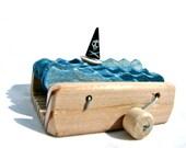pirate ship wooden automaton