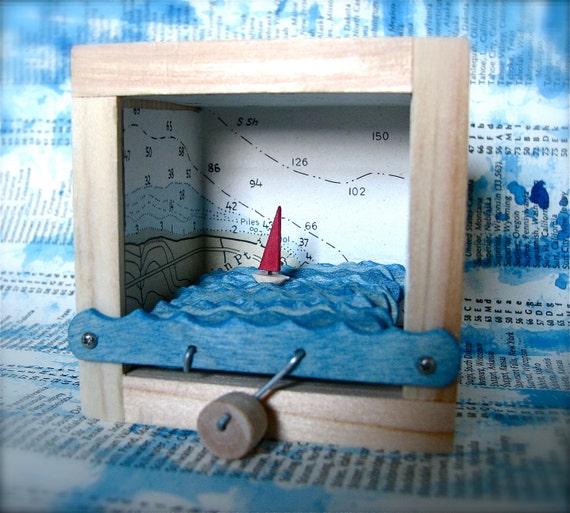 nautical chart sailboat automaton