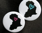 ON SALE Africa Buttons