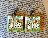 PAINTING the ROSES RED  - of Alice in Wonderland Earrings