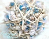Made to Order Custom Details Bridal Bouquet and Bridesmaids of Shells (White Starfish Style). FULL PAYMENT