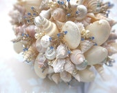 Bridal Bouquet of Shells, Bead and Crystals (Hinewai Style) IN STOCK