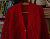 SALE////// Red Mohair Cardigan S