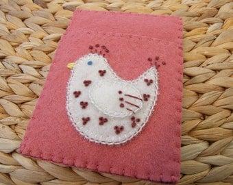 Pink Felt Card Case