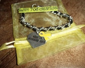 Keep My Husband Safe Bracelet Black Support Our Troops