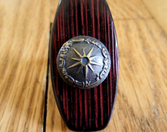 large wooden button ring