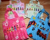 PDF Sewing Pattern- Little Crayon Purse Art Tote- Make your own