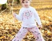 Girls Double Ruffle Pants Custom Boutique 12m, 2t, 3t, 4t, 5, 6