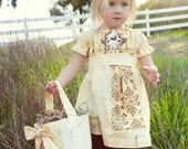 Easter Patchwork Bunny Dress Custom Size 12m, 2t, 3t, 4t, 5, 6