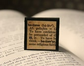 Believe - Square Magnetic Bookmark