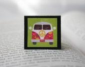 70's Volkswagen Van - Square Magnetic Bookmark
