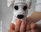 Crocheted Dog - made from certified 100% organic cotton garn