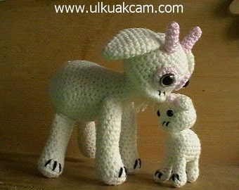 Amigurumi Mum and Baby Goat Pattern