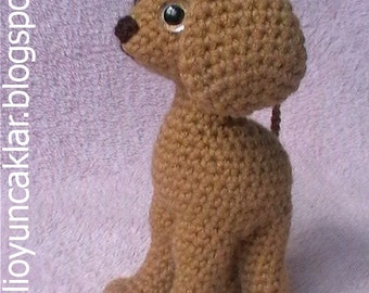 Crocheted Brown Dog