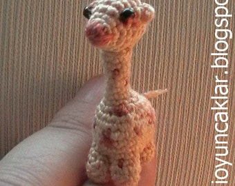 Crochet 1.6 inc Miniature Giraffe