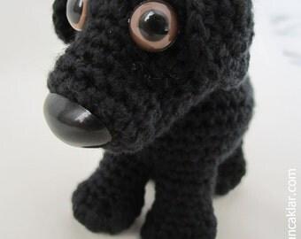 Crocheted Black Cotton Dog