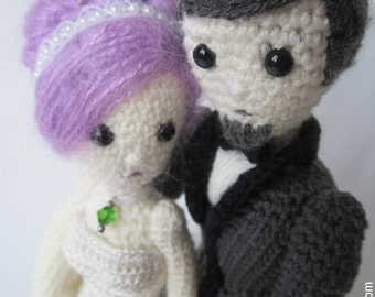 Crocheted Wedding Dolls -Handmade Bride and Groom