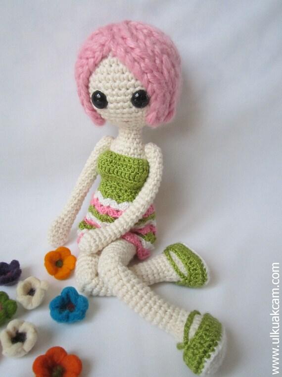 Presepe Amigurumi Etsy : Amigurumi Pink Doll Pattern