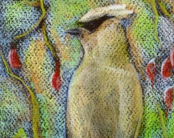 Cedar Waxwing Bookmark