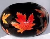 Maple Leaf Gourd Bowl No 2