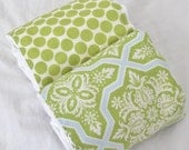 Burp Cloth Set of 2 in green for boy or girl