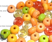 ACCENT Handmade Lampwork Beads 15 Spacers Summer Melon Colors Mix by DesertBug Designs