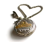 Time for Love - Vintage Quartz Pocket Watch With Japan Movement