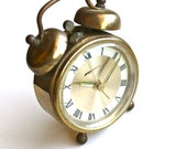 Did You Set the Alarm - Vintage Mid Century Wind Up Alarm Clock Made in West Germany